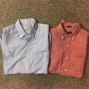 2 - J Crew Button Down Slim Shirts Sz S